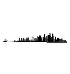 singapore city singapore urban skyline vector image