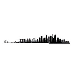 singapore city singapore urban skyline with vector image
