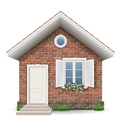 Small brick residential house vector image