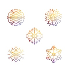 snowflakes Christmas and new year design element vector image