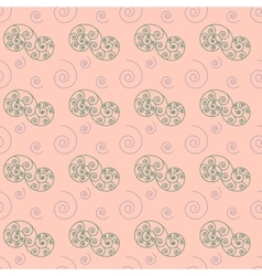 Spiral pastel seamless pattern vector image