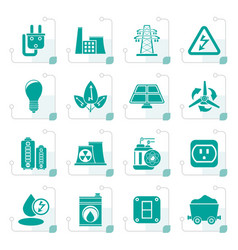 Stylized power energy and electricity icons vector