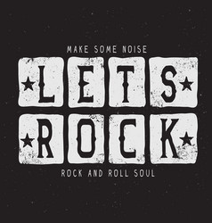 The text-lets rock vector