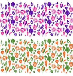 vegetable border background for tins vector image