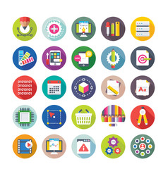 Web design and development icons 9 vector