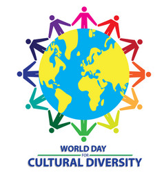 world day for cultural diversity with colorful vector image