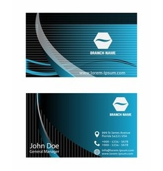 - business card set vector image vector image