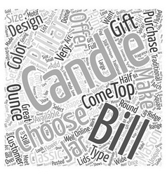 Bills Candles Word Cloud Concept vector image