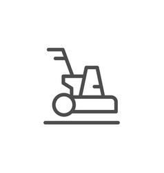 cleaning machine line icon vector image vector image