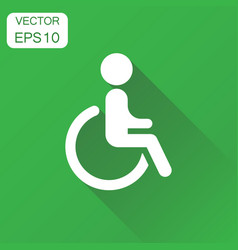 man in wheelchair icon business concept vector image