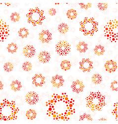 Orange color abstract seamless circles design vector