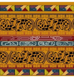 Seamless ethnic texture with leopard vector image vector image
