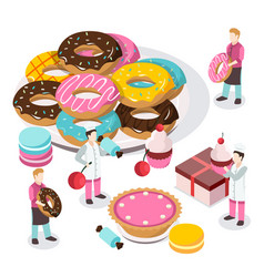 sweet shop isometric composition vector image