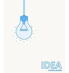 thin blue line design lamp icon vector image