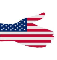 American handshake vector image vector image