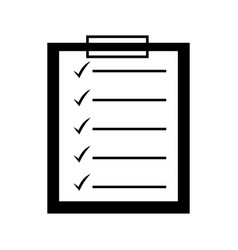 checklist clipboard isolated icon vector image