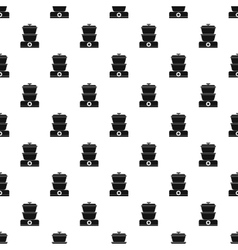 Double boiler pattern simple style vector image
