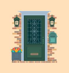 elements of architecture front door background vector image vector image