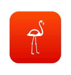 flamingo icon digital red vector image vector image