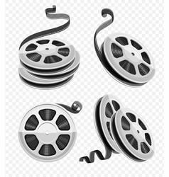 movie video film disks vector image vector image