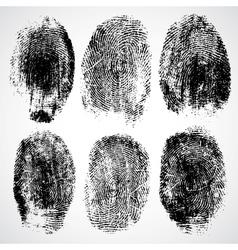 Set of fingerprints vector image