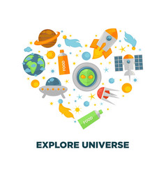 universe exploration and galaxy space research vector image