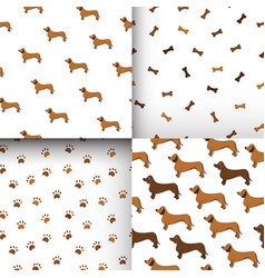 awesome set of seamless patterns with cute vector image