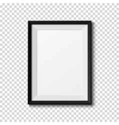 Black frame isolated on transparent background vector image