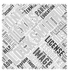 Locksmiths in texas word cloud concept vector