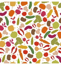seamless pattern with vegetables Assorted vector image