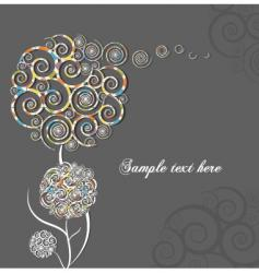 swirl flower vector image vector image