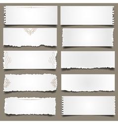 Ten notes paper vector image