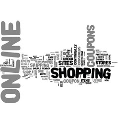 why online coupons are the rage text word cloud vector image vector image