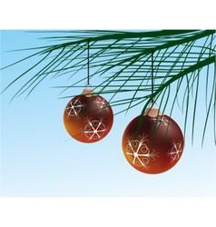 wintery christmas decoration vector image