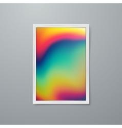 Artistic iridescent poster design vector