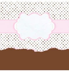 Brown and pink vintage card template EPS 8 vector image vector image