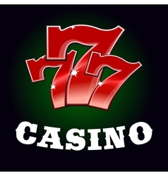 Casino jackpot icon with red lucky number vector image vector image