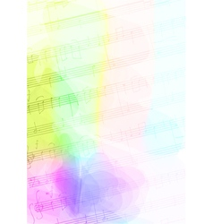 Colour Background with handmade musical notes vector image vector image
