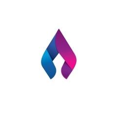 Flame logo design concept beauty spear vector image