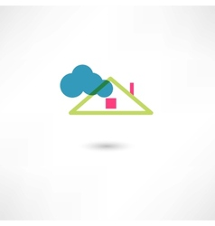 roof and cloud vector image vector image