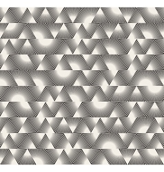 Seamless Black and White Triangle Sunburst vector image vector image