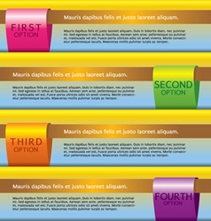 Set of Colorful Banners With Option Number vector image vector image