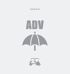 advertising block - minimal icon vector image