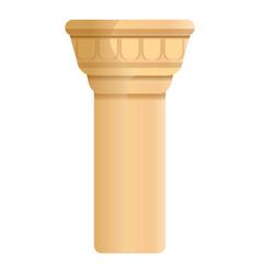 ancient pillar icon cartoon style vector image