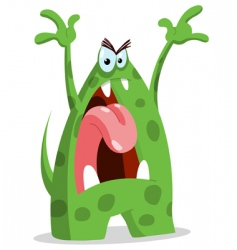 angry monster vector image