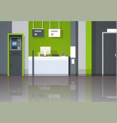 Atm money automatic teller machine cash desk vector