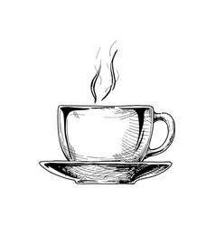Big ceramic cup vector