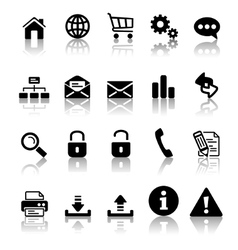 Black icon set vector