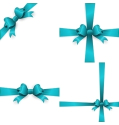 Blue bow isolated on white background EPS 10 vector image