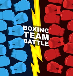 Boxing team battle Blue and Red boxing gloves vector
